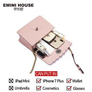 Image 4 - EMINI HOUSE Camellia Crossbody กระเป๋าผู้หญิงกระเป๋าถือหรูผู้หญิงออกแบบกระเป๋าแยกหนังกระเป๋าสะพาย Messenger กระเป๋า