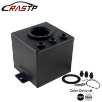 RASTP High Quality 2L Aluminum Dual Bill Fuel Surge Tank with Fittings RS OCC026