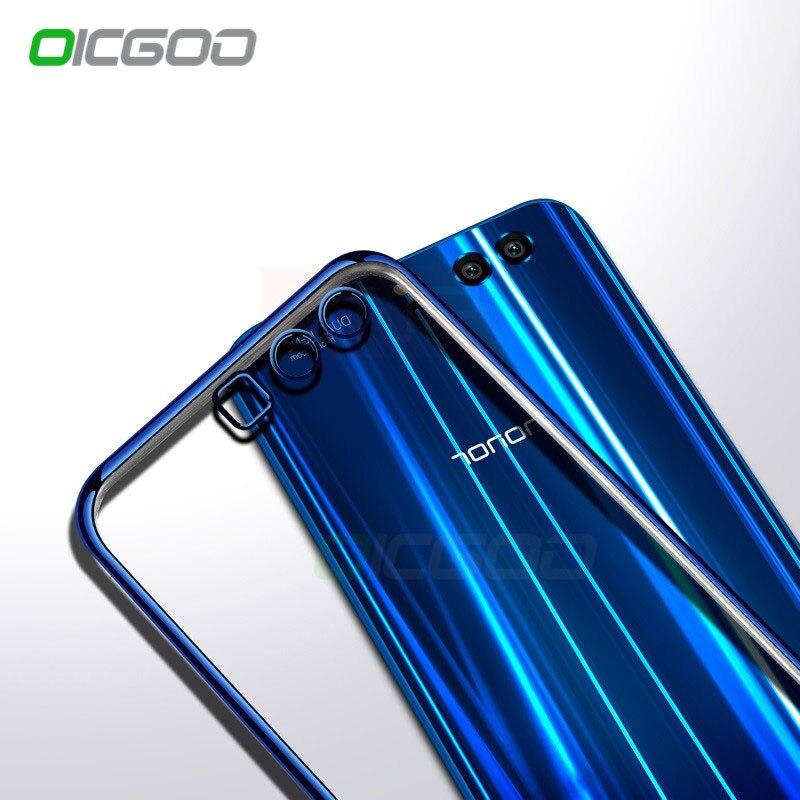 Galleria fotografica OICGOO Ultra Slim Soft Case For Huawei P10 P10 lite P10 Plus Silicone TPU Full Cover For Huawei P9 P8 Lite <font><b>Honor</b></font> <font><b>9</b></font> Phone Case