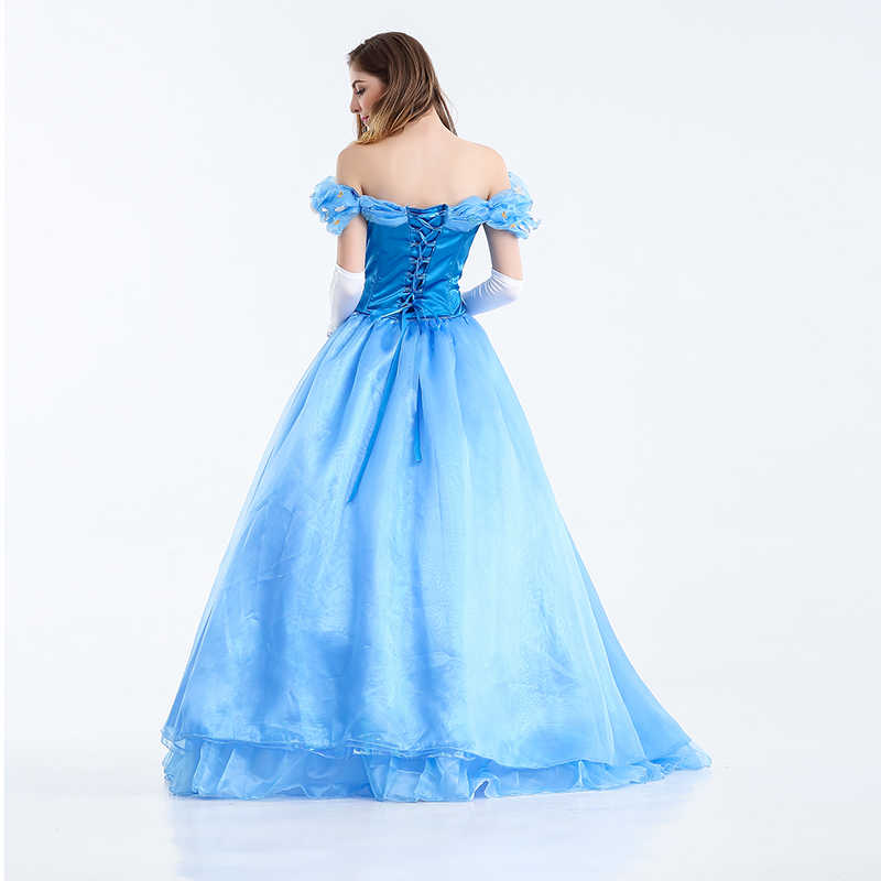 bd8be958aabb ... VASHEJIANG Deluxe Adult Cinderella Costume Women Fancy Dress Ball Gown  Halloween Princess Costume Role Play Carnival