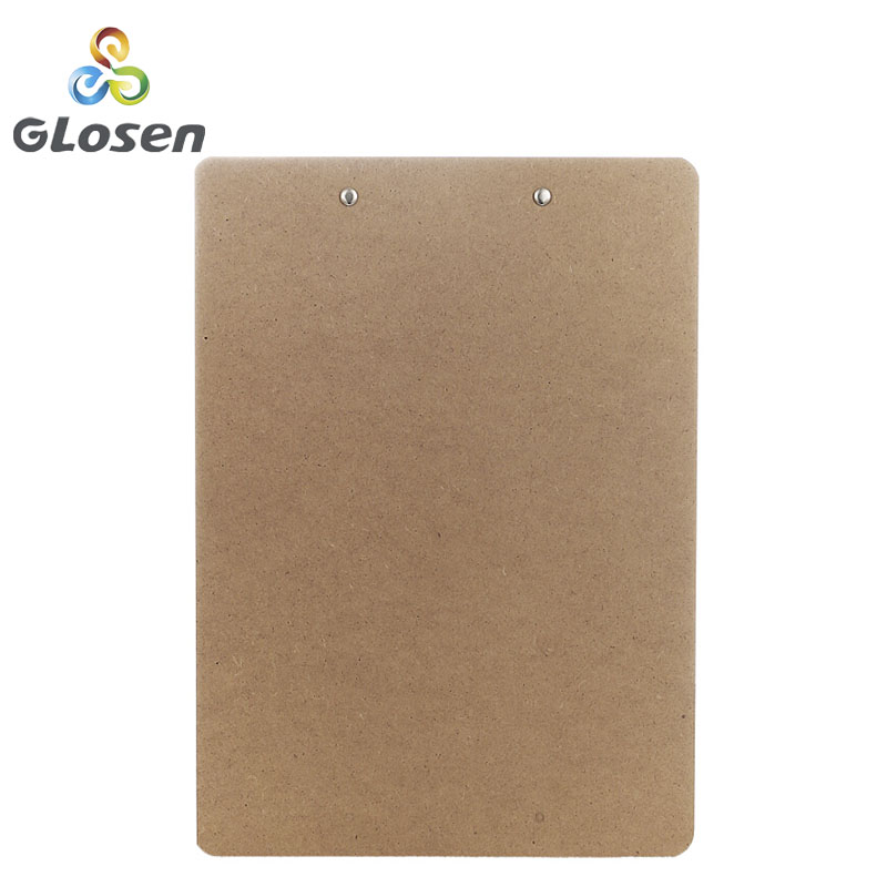 Image 2 - Glosen A4 Wooden Desk Card Notebook Papers Writing File Mat Drawing Folder Butterf Clip Board Clipboard School Office Supplies-in Clipboard from Office & School Supplies