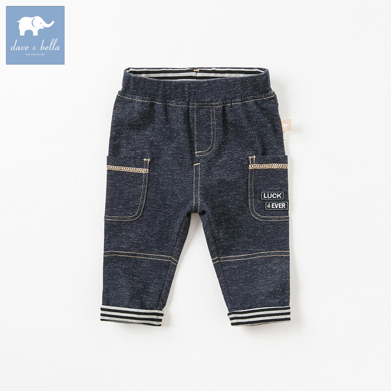 DB8496 dave bella autumn baby boys fashion jeans children full length kids denim pants infant toddler trousers autumn women fashion jeans high waist button denim jeans full length pencil pants feminino trousers page 6