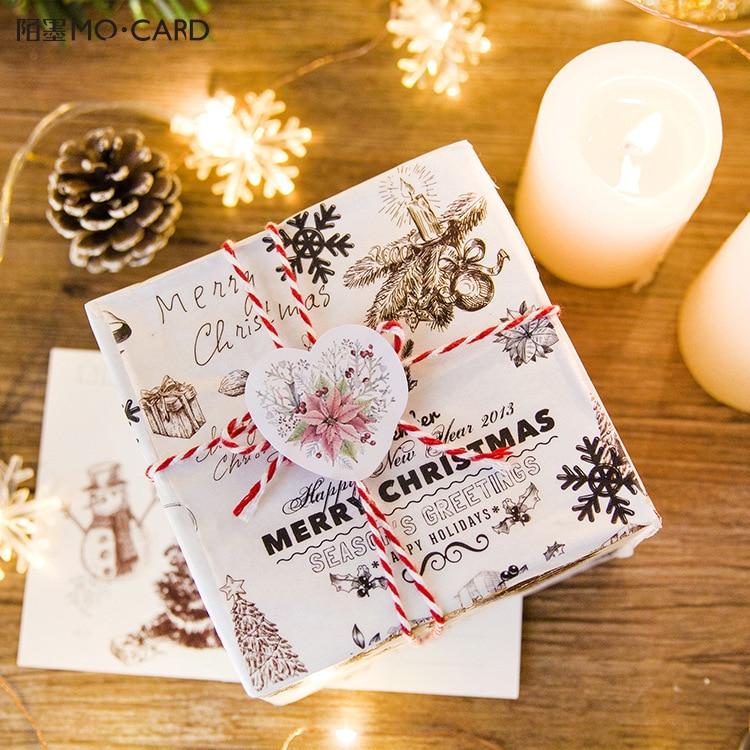 45Pcs/ Box Creative Christmas Flowers Gift Mini Paper Decoration Sticker For Kid Child Gifts Diy Scrapbooking Kawaii Stationery kid s box 2ed 5 pupils bk