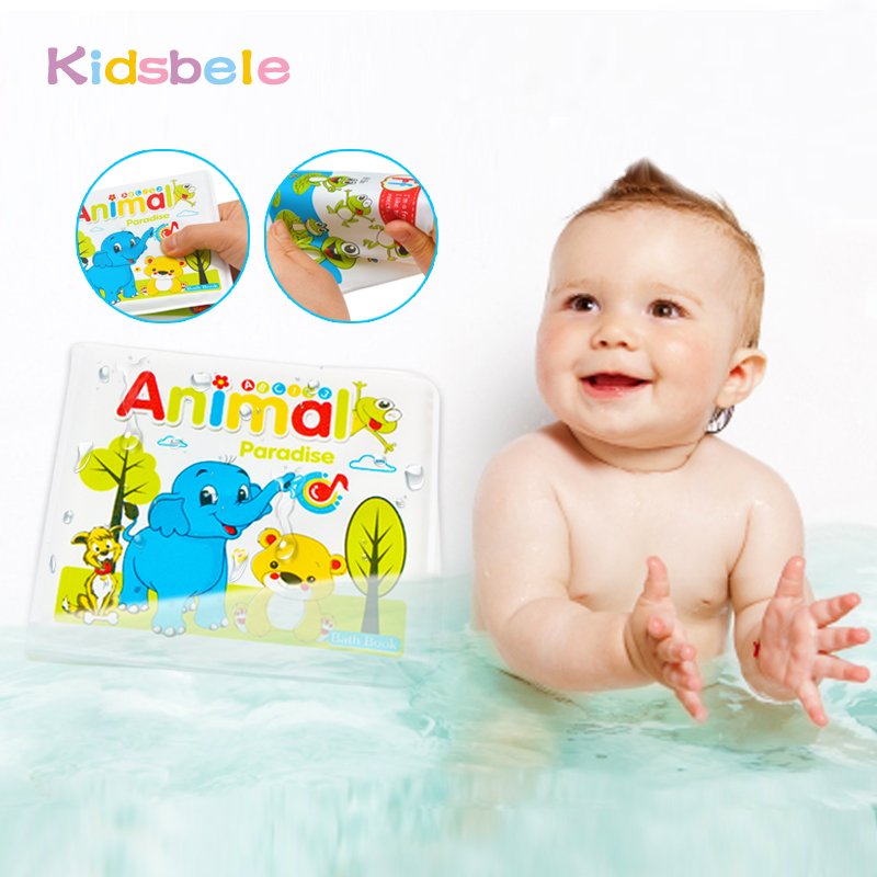 Baby Waterproof Book Toys Bathtime Toys Educational Bath Book ...