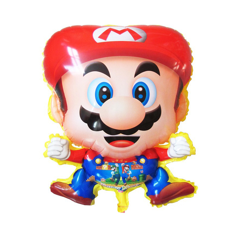 Cartoon Mario Foil Balloons Inflatable toys Helium Balloon kids classic toys air
