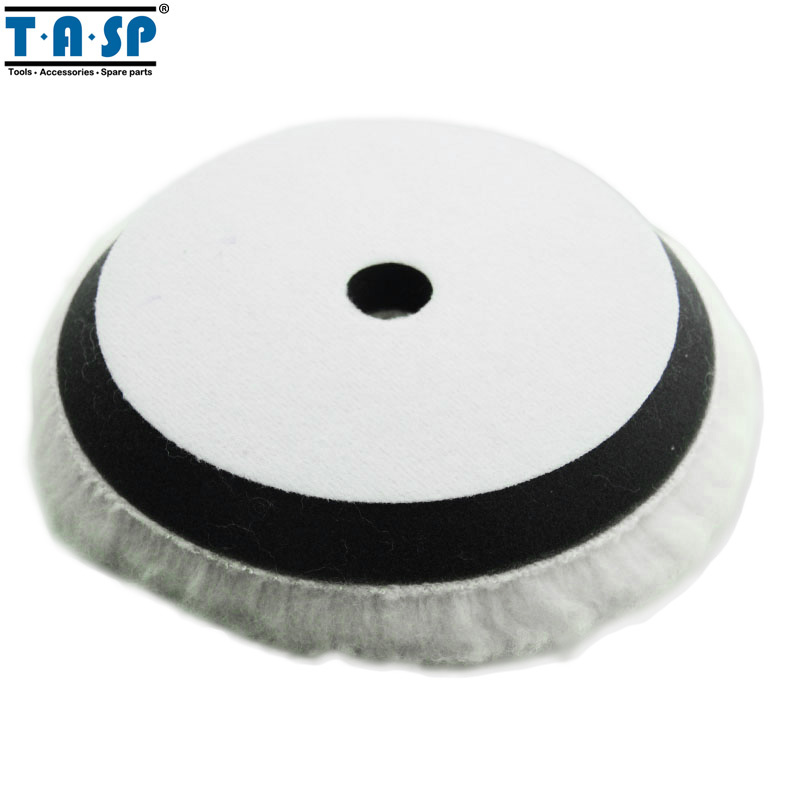 цена на TASP 150mm 6 Inch Lamb Wool Polishing Pad Buffing Wheel for Car Polisher