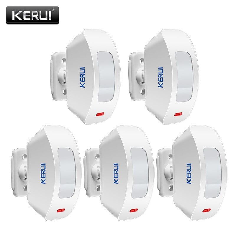 5 Unidades/lotes KERUI P817 Cortinas Sensor Infravermelho Detector De Movimento PIR Sem Fio Compatível Com o Sistema de Alarme do Assaltante Segurança