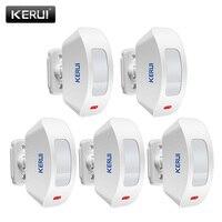 5 unids/lote KERUI P817 inalámbrico infrarrojo PIR Detector de movimiento cortinas Sensor Compatible con sistema de alarma de seguridad antirrobo