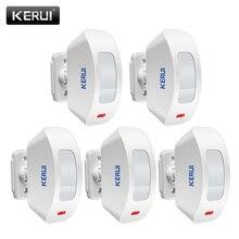Kerui p817 infravermelho sem fio, detector de movimento pir sensor de cortinas compatível com sistema de alarme de segurança anti roubo