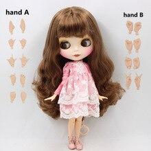 Buzlu DBS Blyth Doll serisi No.BL9158 kahverengi saç mat yüz küçük meme Azone Joint vücut Neo 1/6 BJD