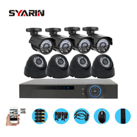 CCTV Home Safety System 8 Channel Full AHD 1080P DVR 2500TVL 8pc 1080P 2 0MP Indoor