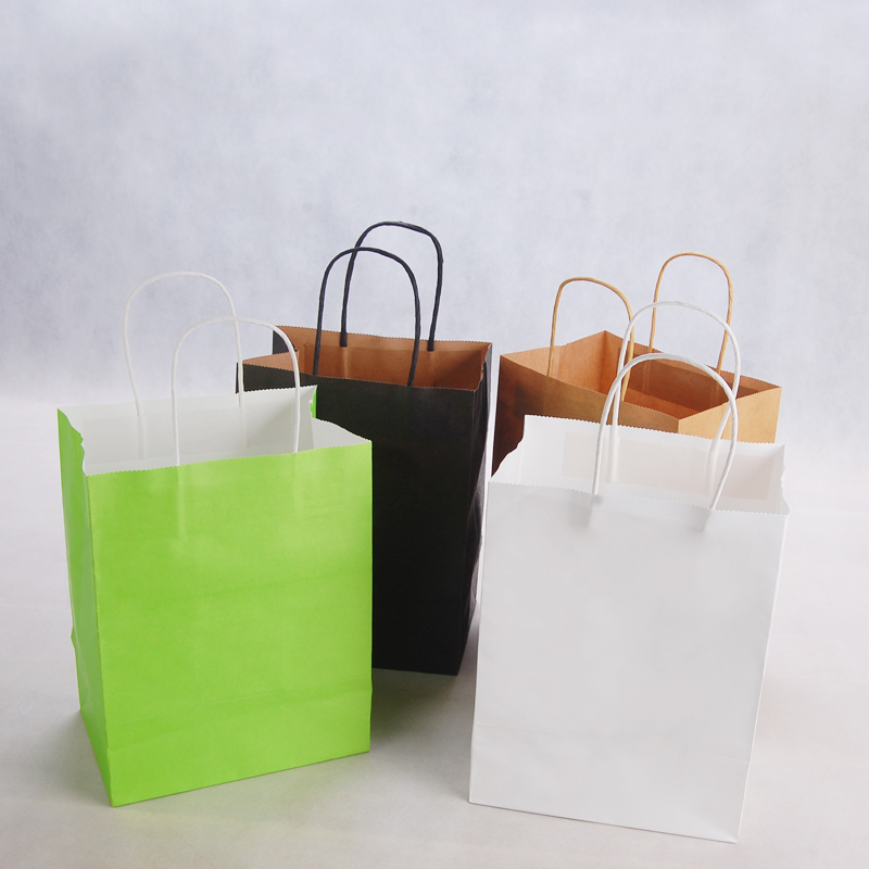 10pcs/lot high quality Kraft Paper Bags Child Party Birthday Food Paper Kraft Seal Gift Packing Treat Bag Supplies 20x14x26