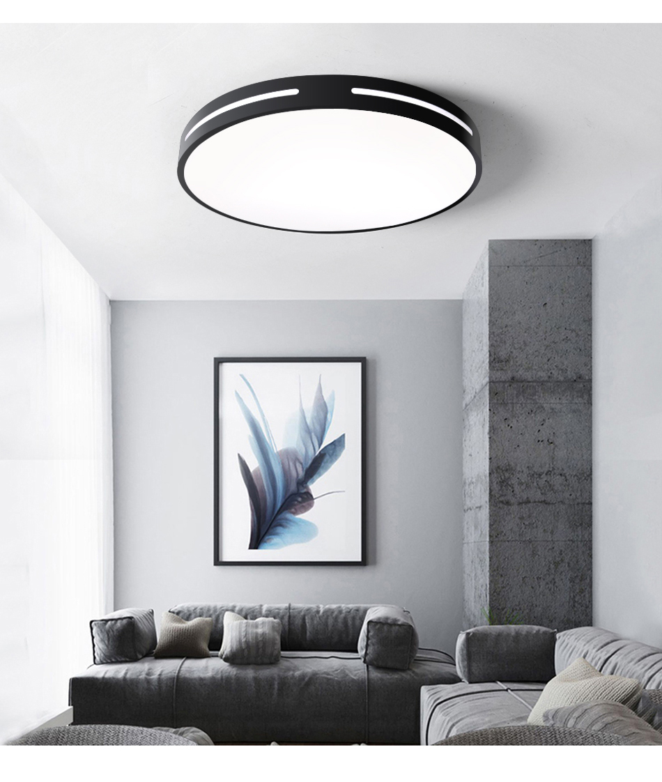 HTB1bAIQXFP7gK0jSZFjq6A5aXXar Modern LED Ceiling Light Lamp Lighting Fixture Surface Mount Flush Remote Control Dimmable 18W 48W Living Room Bedroom Balcony