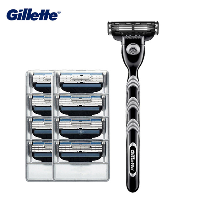 Gillette Mach 3 Razor Safety Shaving Blade for Men's Bread Hair Shaver Shaving & Hair Removal Professional Razor Shaving Machine