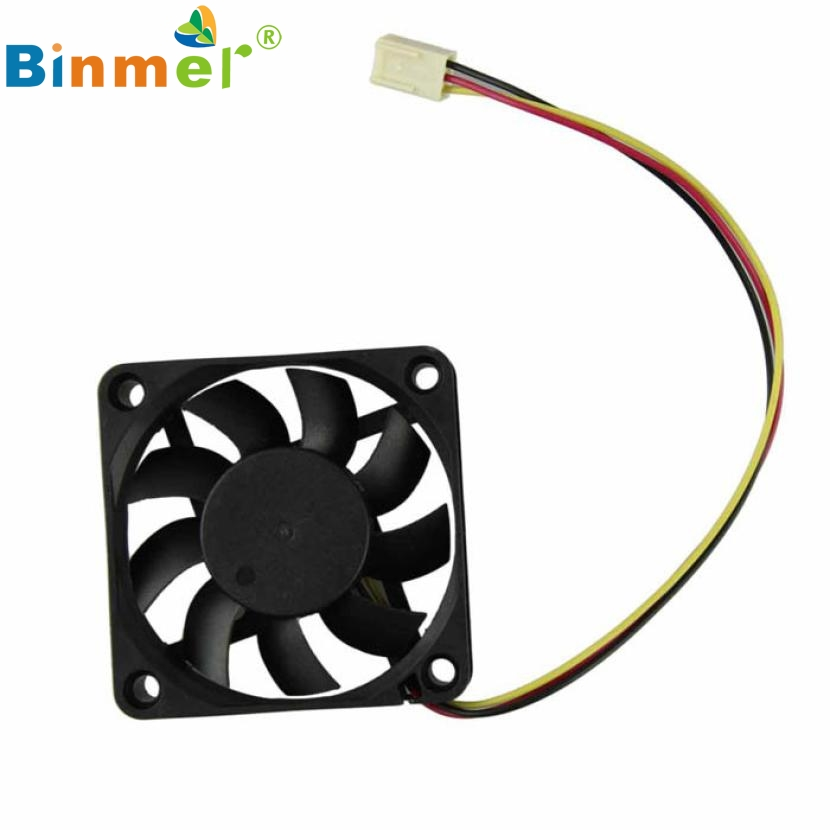 Del 60mm PC CPU Cooling Fan 12v 3 Pin Computer Case Cooler Quiet Molex Connector Mar09 2200rpm cpu quiet fan cooler cooling heatsink for intel lga775 1155 amd am2 3 l059 new hot