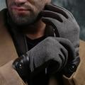 Новые зимние мужские перчатки упругие бархат мода с сенсорным экраном палец мужские перчатки