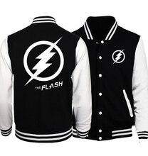 Plus Size The Flash Fashion Men Jacket 2017 Spring Baseball Jackets Superman Batman 2/Deadpool/ The Punisher Hoodies Men S-5XL