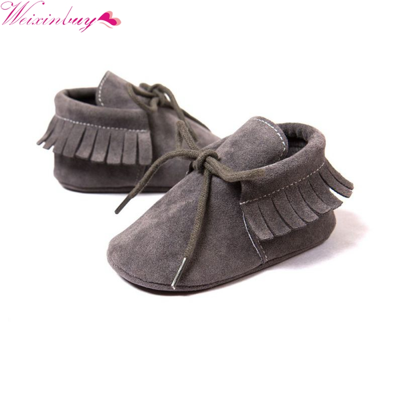 Spring And Autumn Newborn Baby Boy Girl PU Leather Matte Leather Soft Anti-skid Shoes Fresh Breathable Baby Shoes