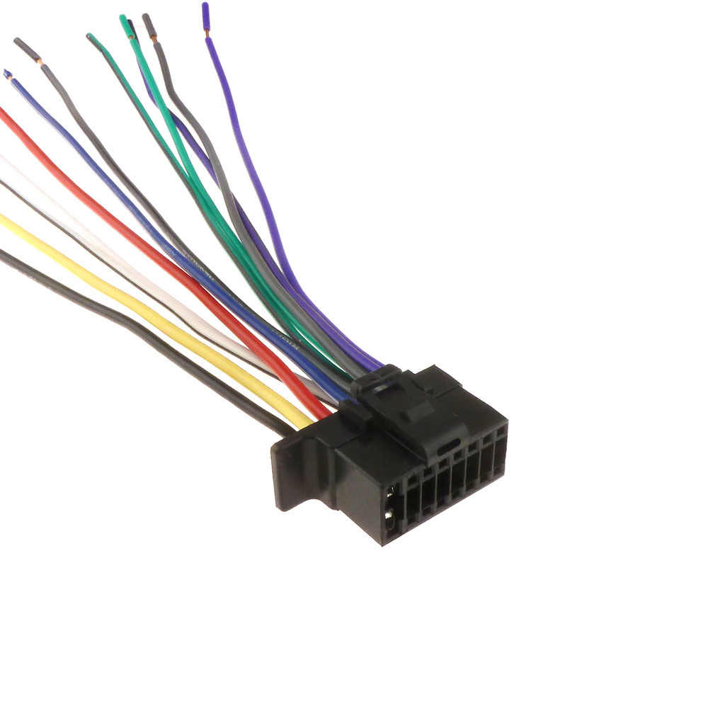 AtoCoto 16 Pin Plug Wiring Harness for Sony WX-GT90BT CDX-GT710HD  on sony car stereo wiring harness, sony explode radio wiring colors, sony explode wiring harness, sony wire harness color codes, sony cdx f5700 wiring harness, sony stereo wiring colors,
