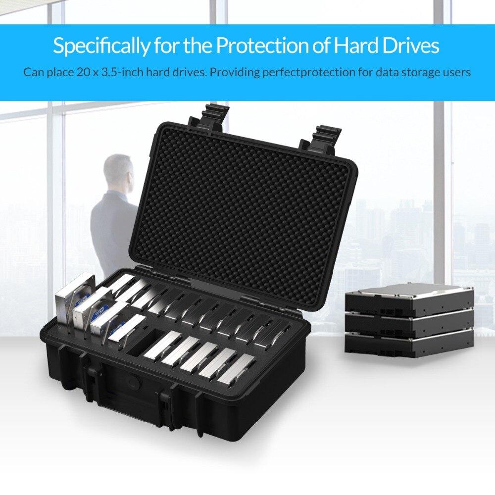 Boîtier de Protection ORICO 20 baies 3.5 pouces pour disque dur avec stockage et Protection HDD étanche à la poussière et aux chocs (PSC-L20) - 5