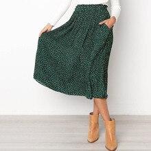 Sisjuly Women Retro Skirts Polka Dots Casual Elegant Party Simple OL Ladies Preppy Female Black Summer Vintage Long Skirt