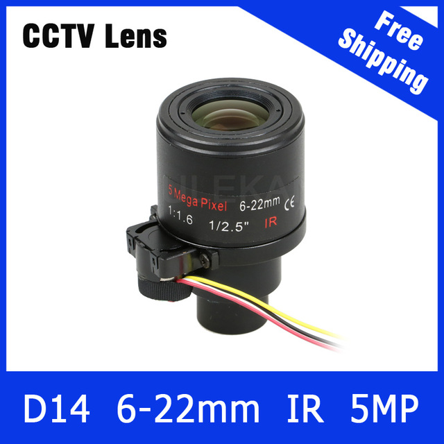 5Megapixel 1/2.5 inch Varifocal Lens 6mm-22mm with AUTO IRIS For OV4689/OV5658 3MP/4MP/5MP AHD/CVI/TVI/IP Camera Free Shipping