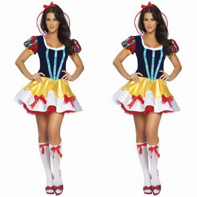 New Tv Show Costumes Halloween Costumes For Women Sexy Adult Snow White Princess Fairy Tale Deluxe Costume Dress-In Holidays Costumes From Novelty -9169
