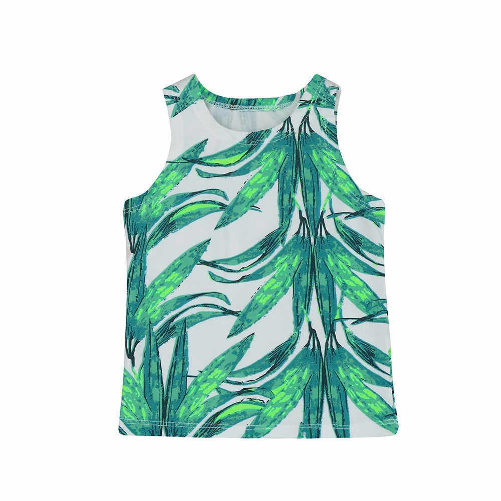 CHAMSGEND الوليد طفل الفتيان الفتيات يترك طباعة T قميص قمم سترة الخيزران يترك ملابس مطبوعة وتتسابق هبوط السفينة oct13