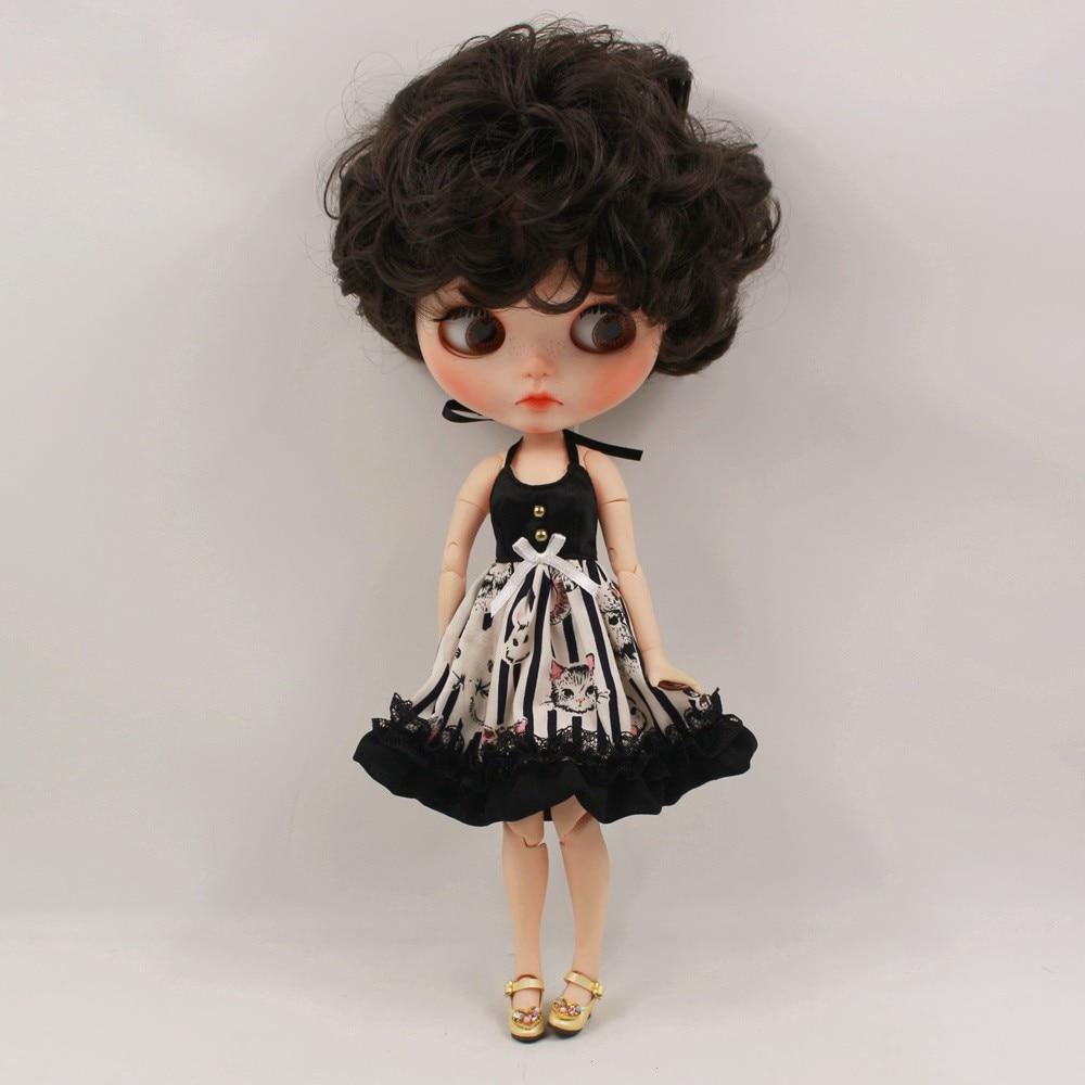 Neo Blythe Doll Black Strap Dress 2