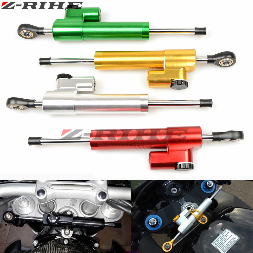 Motorcycle cnc Universal Stabilizer Damper Complete Steering Mounting Bracket For Kawasaki Z1000 Z800 Z750 EX-300 honda Yamaha universal motorcycle brake fluid reservoir clutch tank oil fluid cup for mt 09 grips yamaha fz1 kawasaki z1000 honda steed bone