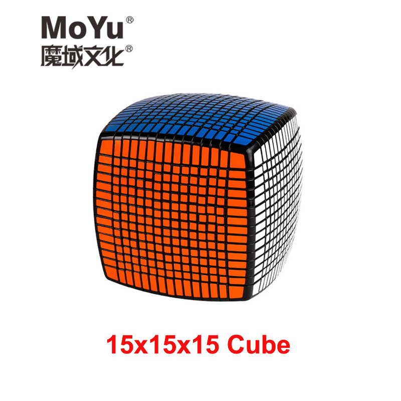 MOYU 15 couches Cube magique 15x15x15 vitesse Puzzle Cube éducatif Cubo magico enfants jouets avec autocollants de rechange (120 cm)
