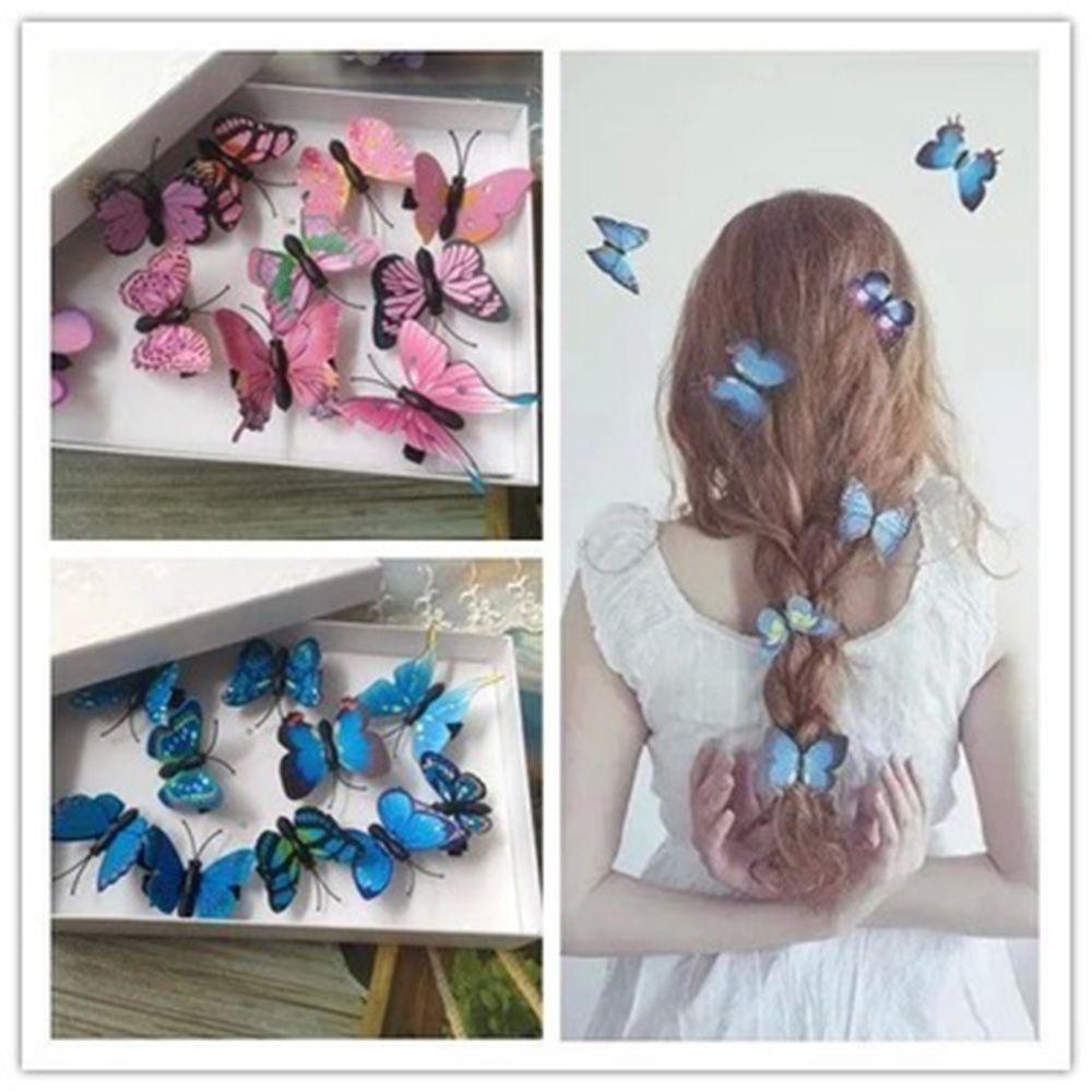 10PC New Fashion Flowers Hot Hair Clips Women Hair Styling Tools Butterfly Gift Handmade Wedding Hair Accessories Holiday Decor