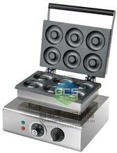 free shipping 6 PCS dounts making machine with recipe waffle grill