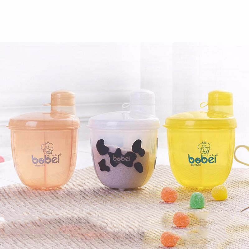 Flaschenzuführung GroßZüGig Baby Fütterung 3 Abschnitt Dispenser Kleinkind Formel Milch Lagerung Infant Kunststoff Mini Milchpulver Aufbewahrungsboxen Klar Und GroßArtig In Der Art