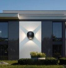 Artpad 12W Modern Up Down Light Outdoor Wall AC110V-220V IP65 Waterproof Sconces Aluminium LED Garden Lamp For Corridor