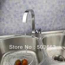 Идеальный 1 ручка для поверхностного монтажа Кухня Поворотный кран раковины латунь Тщеславие смесителя L-1054