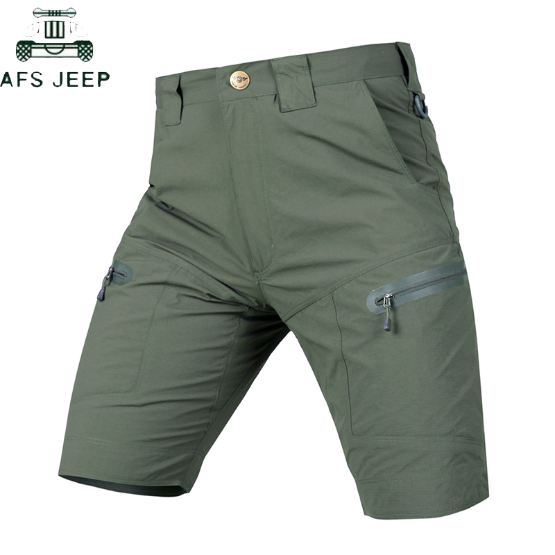 Quick Drying Cargo Shorts Men Military Multi-pocket Waterproof Mens Shorts Outwear Tactical Army Shorts Male S-2XL