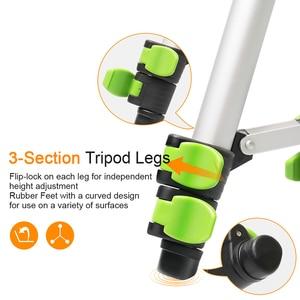 """Image 4 - Tripé ajustável portátil de alumínio de huepar para a câmera do nível do laser com nível flexível da bolha da cabeça da bandeja de 3 vias 1/4 """" 20 montagem do parafuso"""