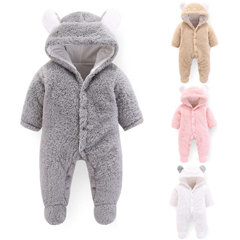 1b2b5eecdc1a new arrival Newborn baby winter rompers long sleeve toddler boys girls  Hairy jumpsuits for baby infant