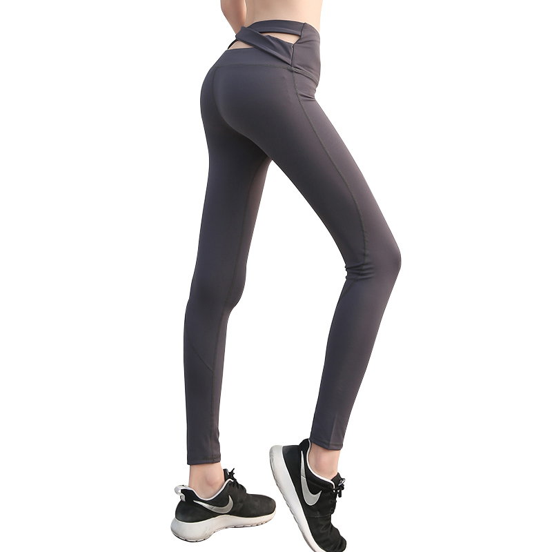 Black Strap High Waist Yoga Pants for Women Fitness Running Tights Black Sport Sexy Push Up Cross Back Yoga Leggings