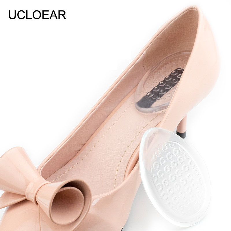 UCLOEAR Silicon Gel Insoles For Shoes Cushion Pad Transparent Heel Cushions Inserts Cushion Support Liners Relieve Heel Pai