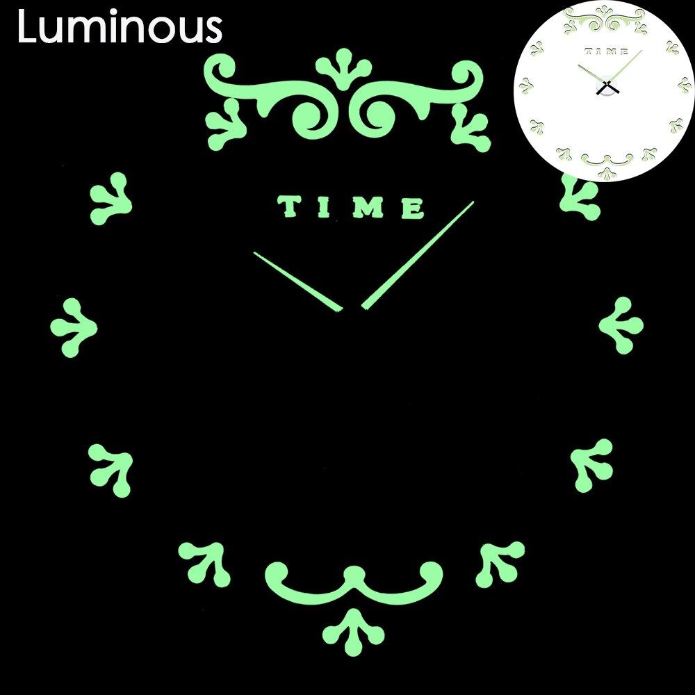 27 различных дизайнов светящиеся настенные часы современный дизайн настенные цифровые большие Big3D DIY модные Saat Reloj Horloge klok - Цвет: wall clock 3