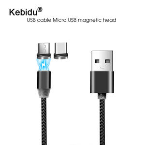 Kebidu Magnetic-Cable Micro-Usb Type-C Max-Samsung LED for 8pin 1m Xr 2A Xs