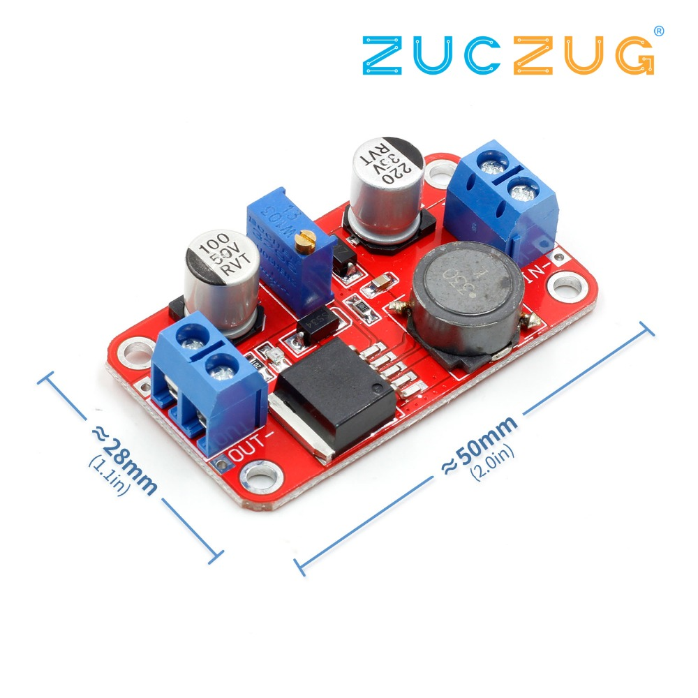 1PCS XL6019 5A Current DC To DC Adjustable Boost Power Supply Board Module