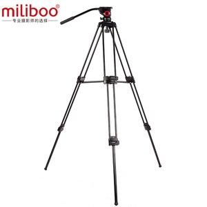 Image 2 - حامل ثلاثي للفيديو محمول احترافي من الألومنيوم من miliboo مع رأس هيدروليكي كاميرا رقمية DSLR حامل ثلاثي القوائم أفضل من manfrotto