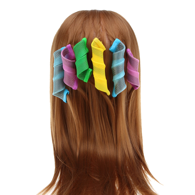 Large Colorful Set of Flexible Hair Curlers Set