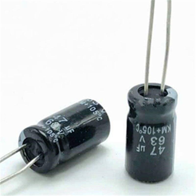 5 x 10uF 100V Aluminium Electrolytic Capacitors 105C 6mm x 12mm Non-Polarised
