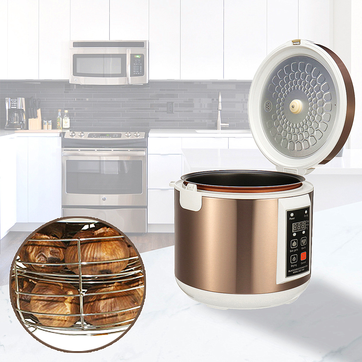 90w 5l Automatic Garlic Fermenter Ferment Box Black Maker Electric Blankets Rice Cooker Timer Circuit Free Electronic Circuits Notice 1please Allow 1 5mm Error Due To Manual Measurement Please Make Sure You Do Not Mind Before Bid 2the Colors May Have Different As The