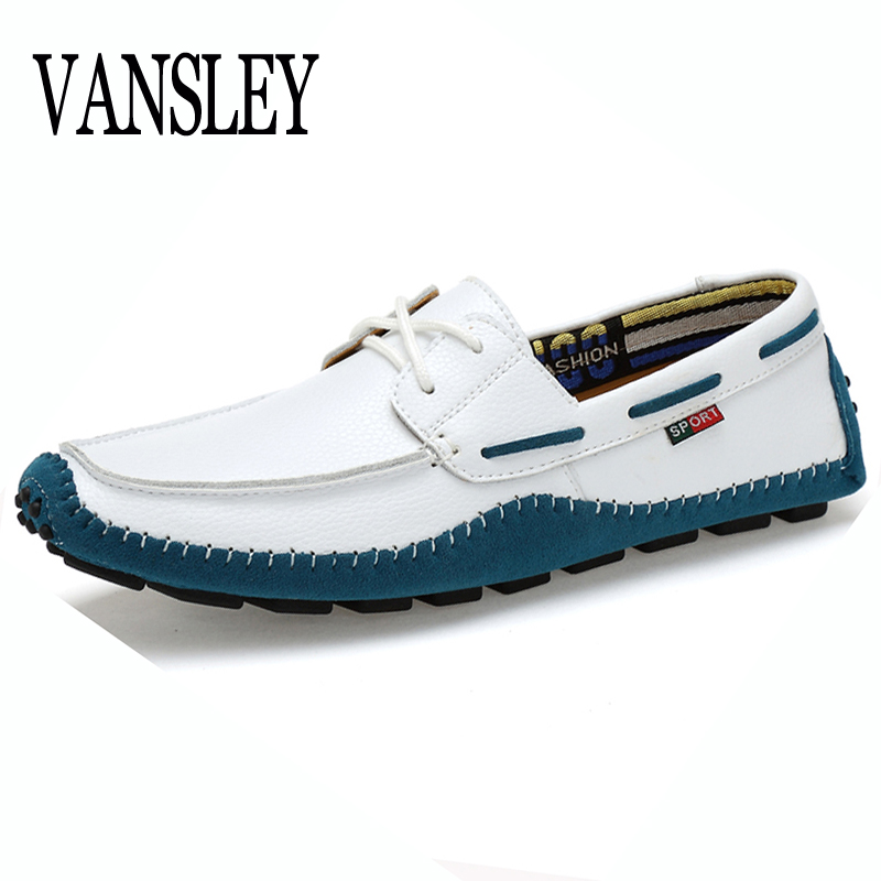 Big Size High Quality Genuine Leather Men Casual  Shoes Soft Moccasins Fashion Brand Men Flats Comfy Driving Boat Shoes 38-47 2017 new brand breathable men s casual car driving shoes men loafers high quality genuine leather shoes soft moccasins flats