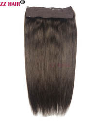 """Zzhair 100 г 120 г 150 г 200 г 16 """"-24"""" машина сделала Реми Halo волос флип в Пряди человеческих волос для наращивания комплект из одного предмета-клипы"""